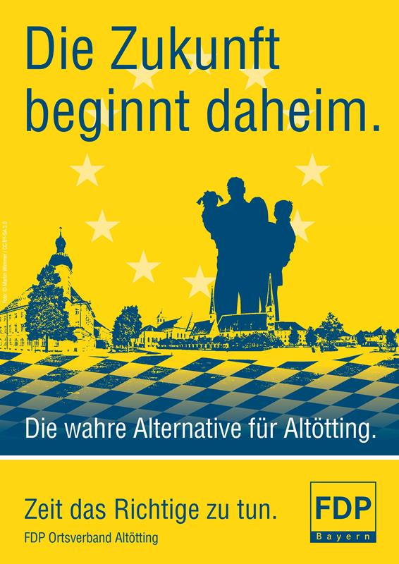 Plakat FDP Altoetting